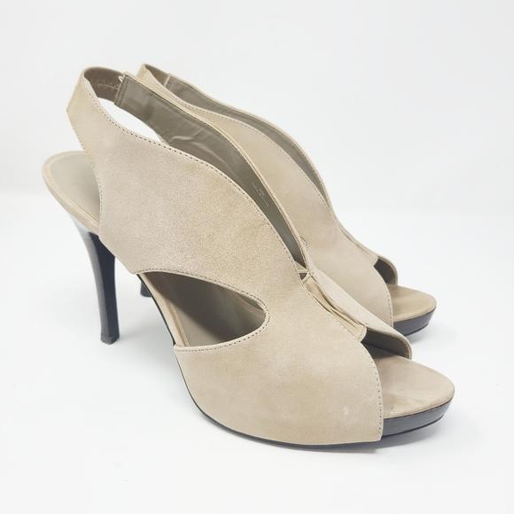 Moda SpaneNude Slingback Open Toe Heels 9